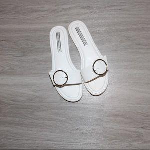 ZARA white buckle sandals